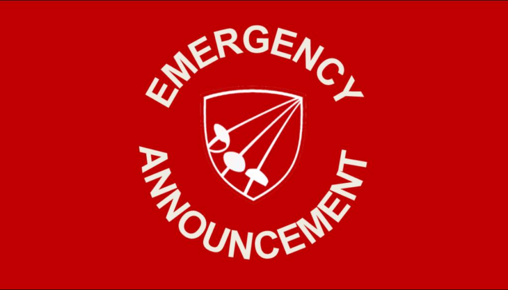 AAFA logo emergency announcement banner