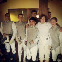 foil fencers, John Murray, Megan Patterson, Ronnie Britton, Jack Santini, David Figuero, Madeline White, Baker White