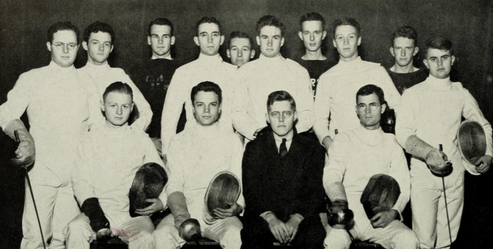 Harry Rulnick last fencer on the right.