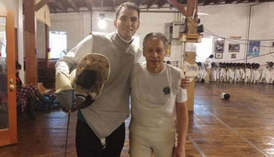 Ronnie Britton and Coach John Page