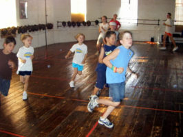 fencing class running