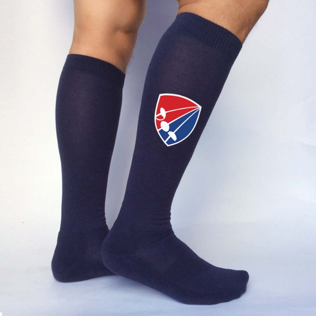 All_American_Fencing_Socks_ _SP 035 NAVY_Color_Lifestyle