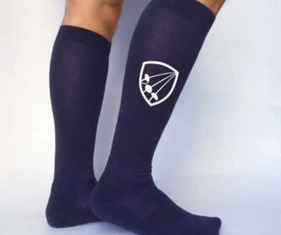 All_American_Fencing_Socks_ _SP 035 NAVY_White_Lifestyle
