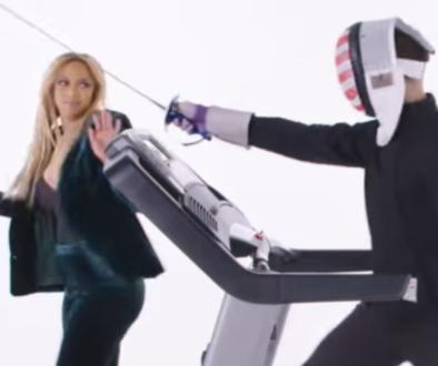 Tyra Banks Fencing