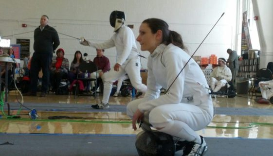 Coach Maya Cameron, epee bout
