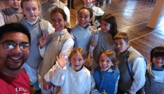 Youth fencing group