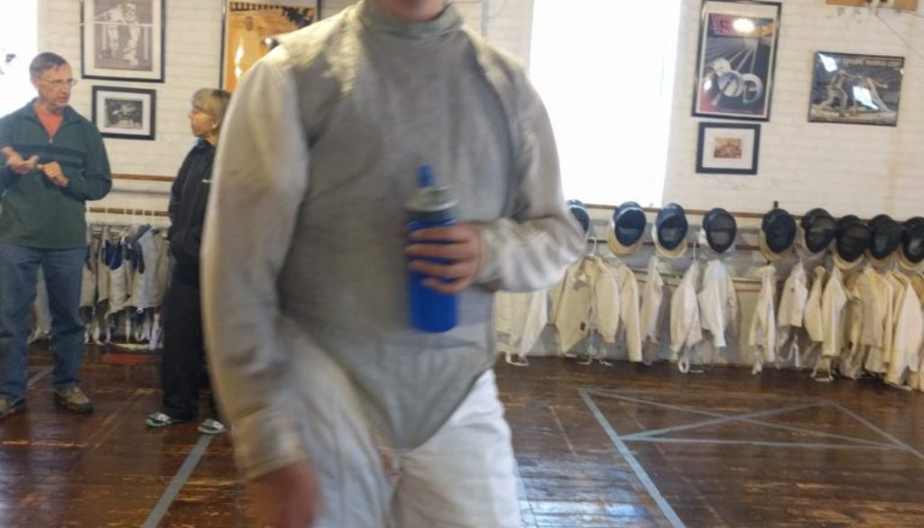 Faiz Nazier tournament foil fencing