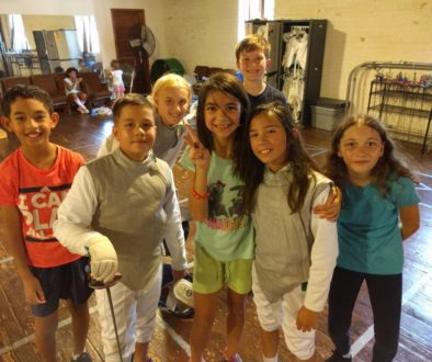Youth fencers, group photo