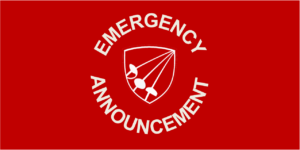 AAFA logo emergency announcement banner