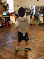 Youth fencing, Liam Guevarra, tournament