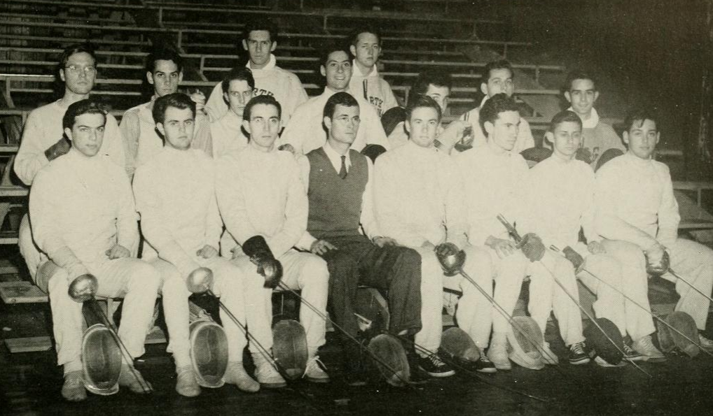 Harry Rulnick, first row, second fencer from left.