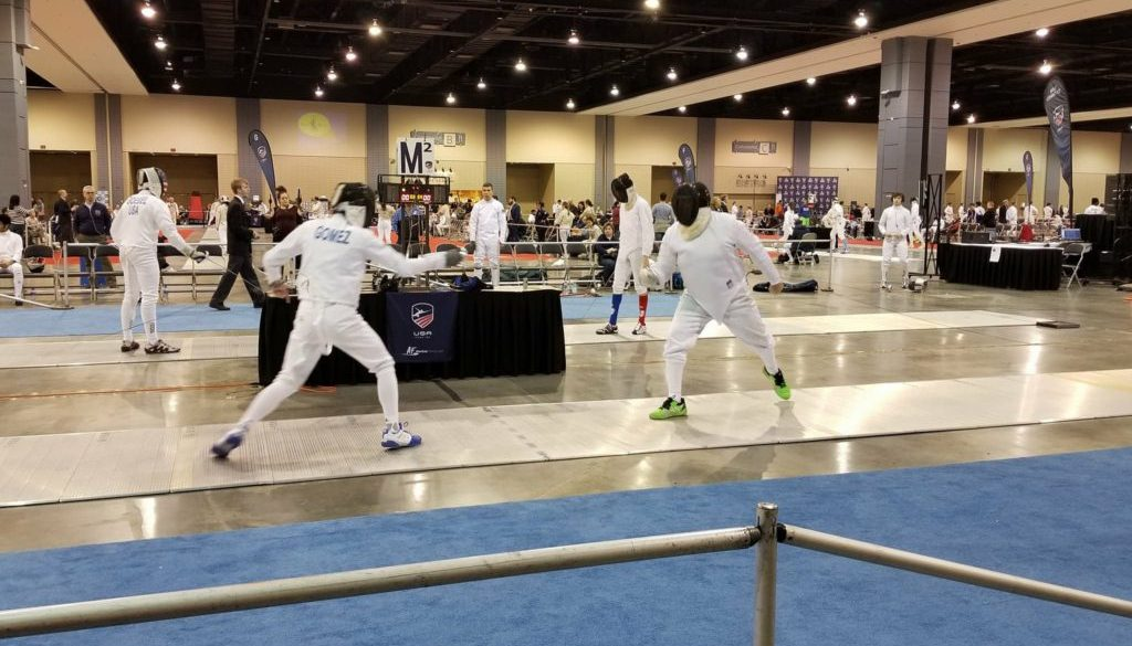 Victor Gomez on strip at Richmond NAC, epee bout