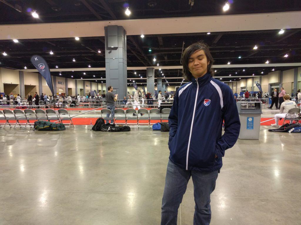 Gabe at Richmond NAC, team jacket