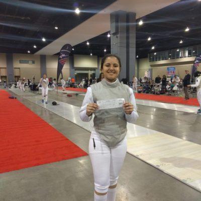 Sabrina with first NAC DE round slip, Richmond NAC