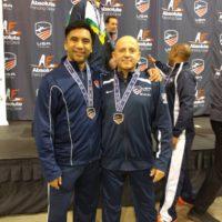 Coach Gerhard and Julio Diaz Richmond NAC Medals