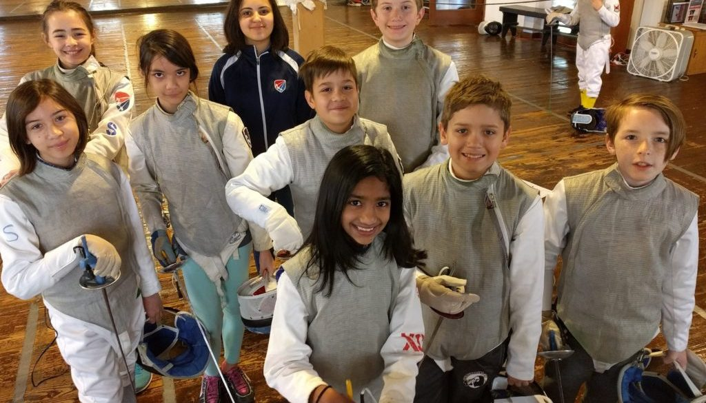 youth fencers before tournament
