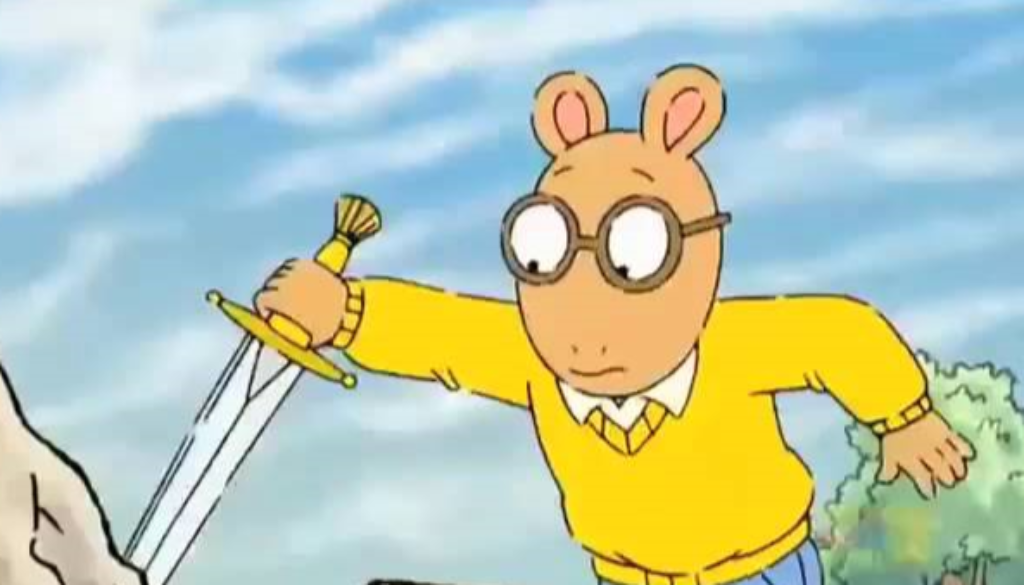 Arthur Read with sword