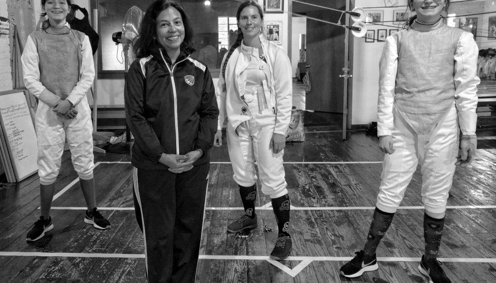 Women's fencers from Fraagin' Aardvark Open
