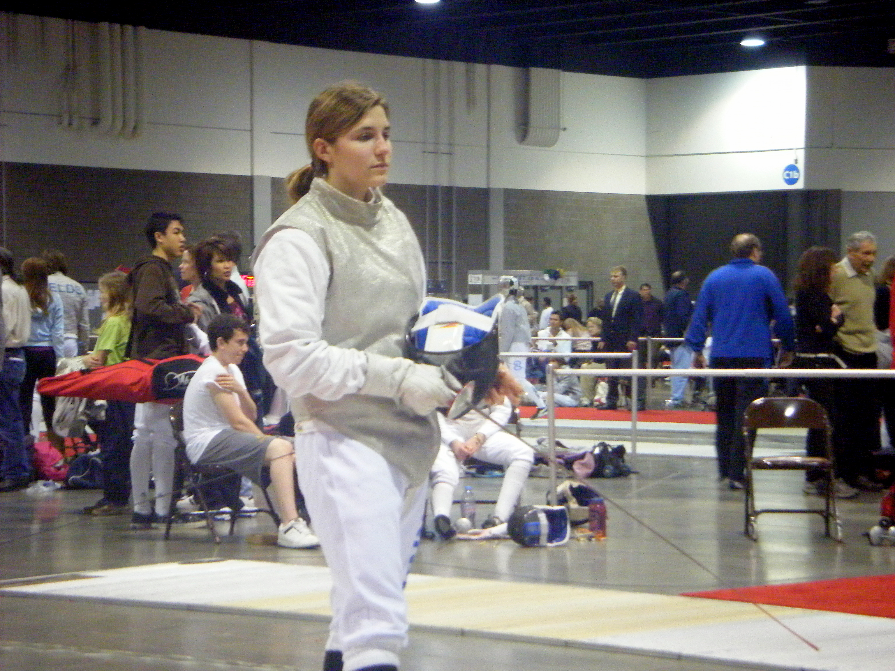 Brianna Osinski, Terry Sanford, All-American Fencing Academy, and University of North Carolina at Chapel Hill Alumnus, at the 2009 Atlanta North American Cup