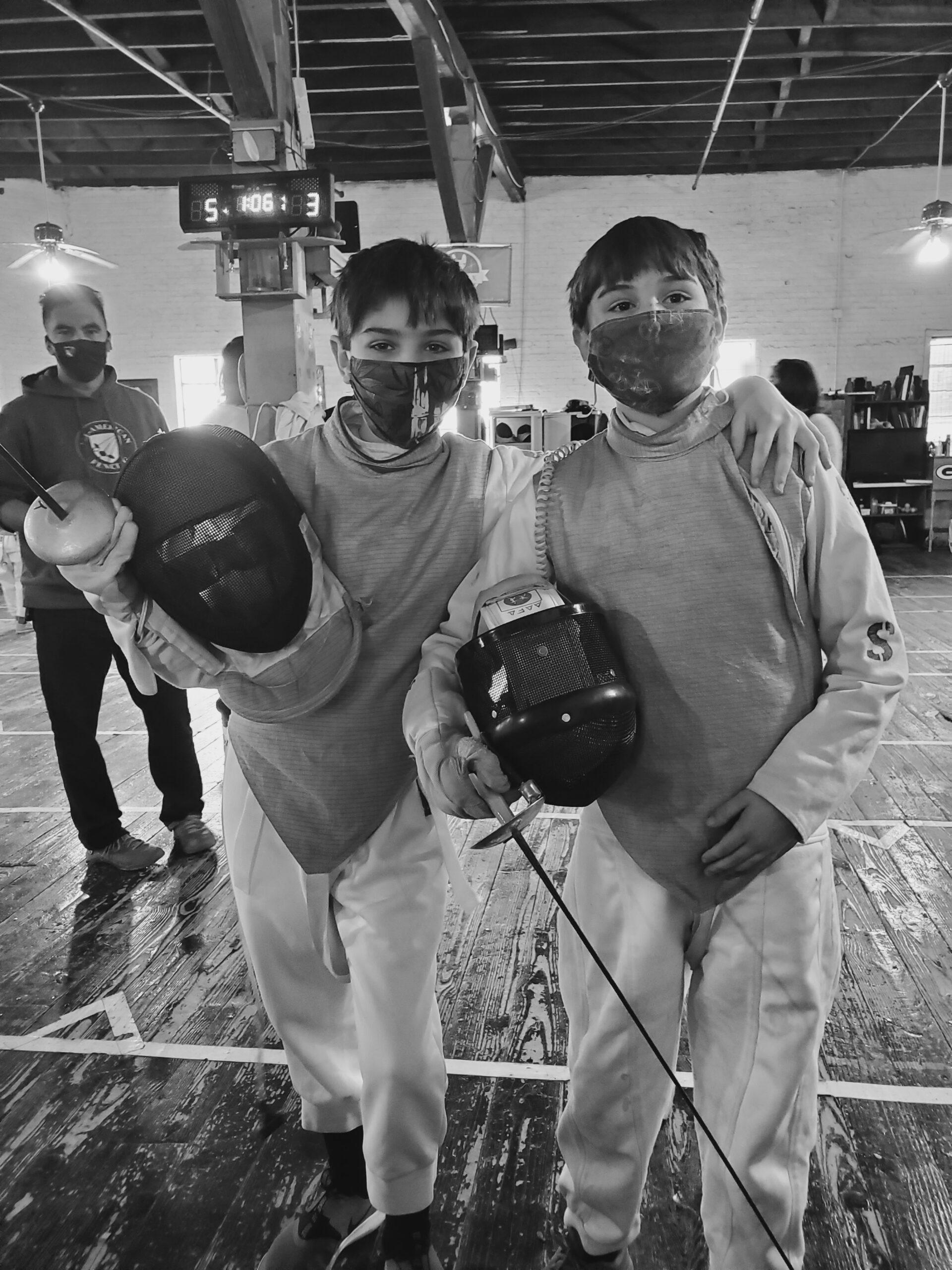 hoyt and atticus fencing tournament